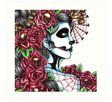 Day of the Dead Red Art Print