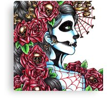 Day of the Dead Red Canvas Print