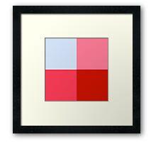 coloured squares Framed Print