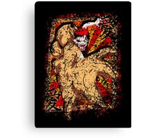 Love  in the monster Canvas Print