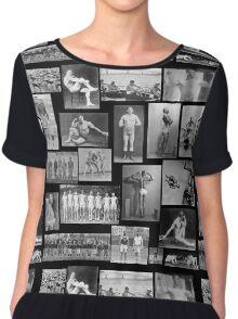 Vintage Athletes  Chiffon Top