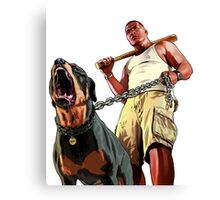 Gta 5 Franklin Canvas Print
