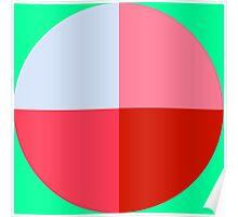 coloured circles Poster