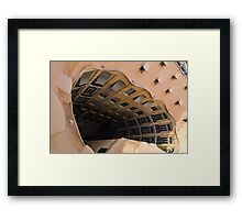 The Lost Straw Hat - Antoni Gaudi La Pedrera Courtyard From Above - Horizontal Framed Print