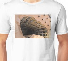 The Lost Straw Hat - Antoni Gaudi's La Pedrera Courtyard From Above - Horizontal Unisex T-Shirt