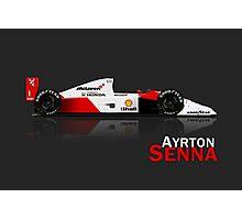 Ayrton Senna - McLaren Honda MP4/6A Photographic Print