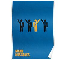 Make Mistakes Corporate Start-up Quotes Poster