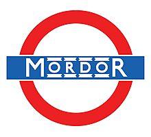 London Underground Mordor Photographic Print