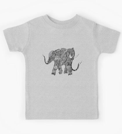 Snakelephant Indian Ink Hand Draw Kids Tee