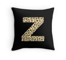 Leopard Z Throw Pillow