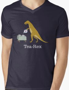 Tea-Rex Mens V-Neck T-Shirt