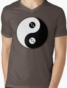 Pokemon Yin Yang Mens V-Neck T-Shirt