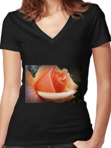 Just Joey Macro from my garden Women's Fitted V-Neck T-Shirt