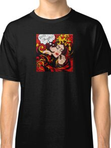 Pop Art wave, drowning in climate change, pollution Classic T-Shirt