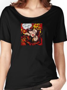 Pop Art wave, drowning in climate change, pollution Women's Relaxed Fit T-Shirt