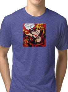 Pop Art wave, drowning in climate change, pollution Tri-blend T-Shirt