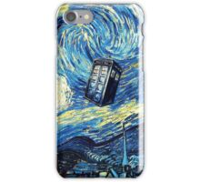 Tardis Starry Night Art Painting iPhone Case/Skin
