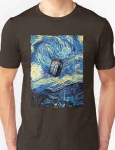 Tardis Starry Night Art Painting Unisex T-Shirt