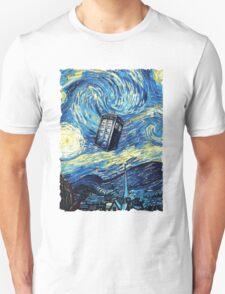 Tardis Starry Night Art Painting Unisex T-Shirt