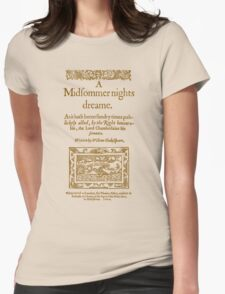 Shakespeare, A midsummer night's dream 1600 Womens Fitted T-Shirt