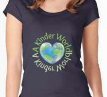 A Kinder World Women's Fitted Scoop T-Shirt