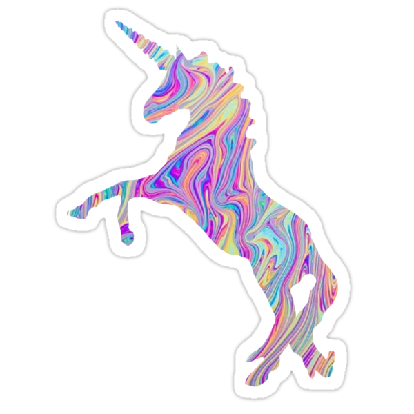 rainbow oil spill unicorn tumblr stickers by