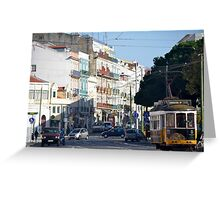 Busy in Belém: downtown Lisbon Greeting Card