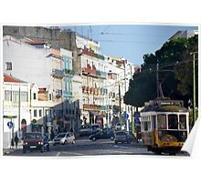 Busy in Belém: downtown Lisbon Poster