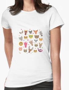 Animals stripe pattern Womens Fitted T-Shirt