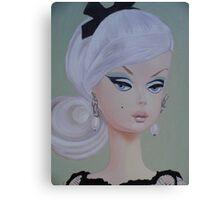 Platinum Barbie Canvas Print
