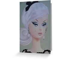 Platinum Barbie Greeting Card