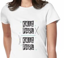 Crafty Kitsch - Knit Purl (black text) Womens Fitted T-Shirt