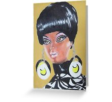 Black Barbie Greeting Card