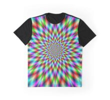 Exploding Neon Star  Graphic T-Shirt