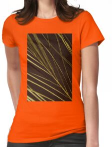 Leaf closeup Womens Fitted T-Shirt