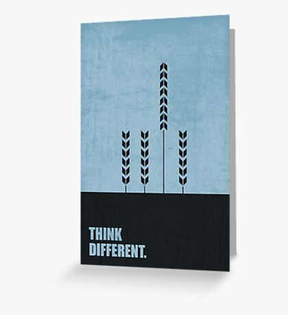 Think Different - Corporate Start-up Quotes Greeting Card