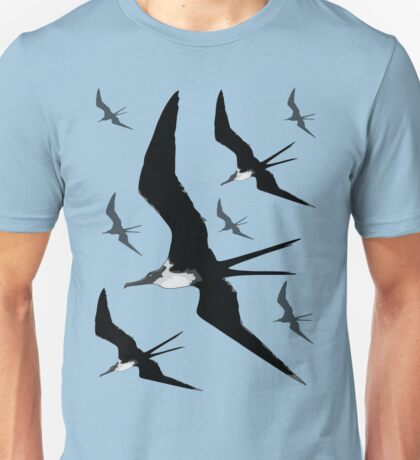 Frigate Birds Flying Unisex T-Shirt