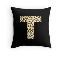 Leopard T Throw Pillow
