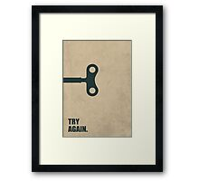 Try Again - Corporate Start-up Quotes Framed Print