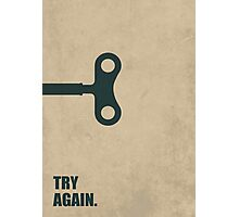 Try Again - Corporate Start-up Quotes Photographic Print