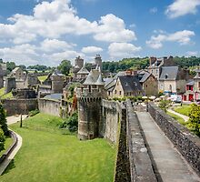 Fougeres City Wall by Sue Martin