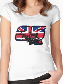 Go Cal Crutchlow in MotoGp Women's Fitted Scoop T-Shirt