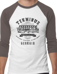 Terminus Sanctuary Community (dark) Men's Baseball ¾ T-Shirt