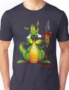 Fun Dragon Cartoon with melted Ice Cream Unisex T-Shirt