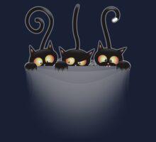 Three Naughty Playful Kitties Kids Tee