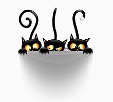Three Naughty Playful Kitties Unisex T-Shirt