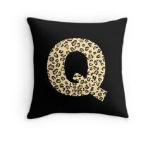 Leopard Q Throw Pillow