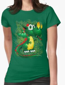 Baby Dragon Cute Cartoon  Womens Fitted T-Shirt