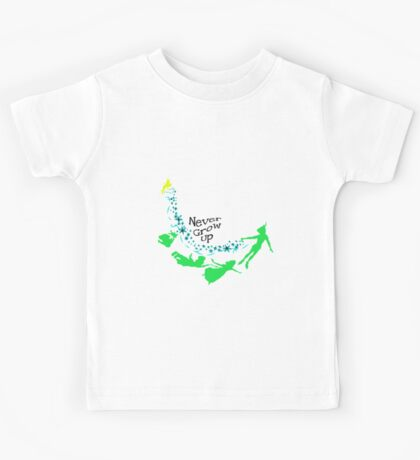 Peter Pan Never Grow Up Kids Tee