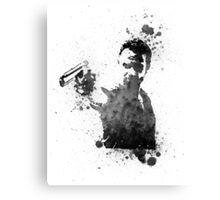 Rick Grimes Walking Dead Black & White Canvas Print